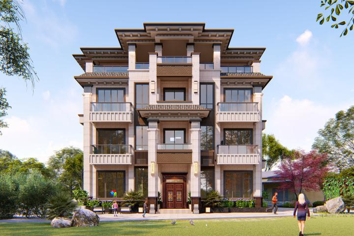 湖南郴州夏家新中式别墅