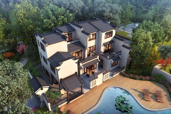 江西吉安曾家新中式乡村别墅