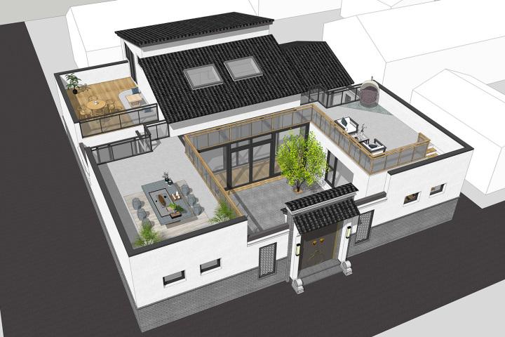 北京通州程家新中式别墅
