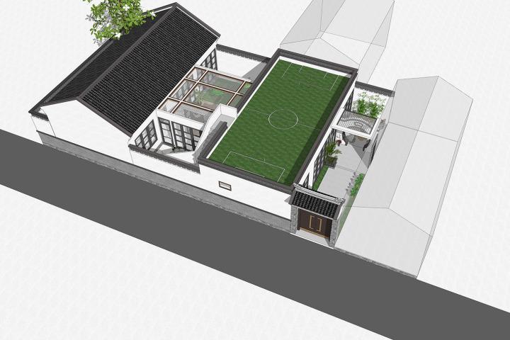 北京平谷刘家新中式别墅