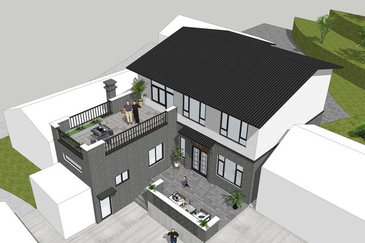 四川自贡周家新中式别墅