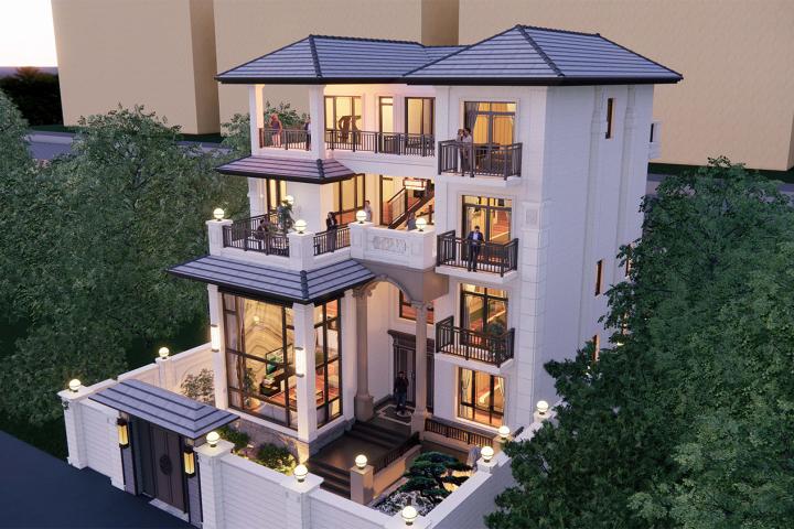 河南洛阳杜家新中式别墅
