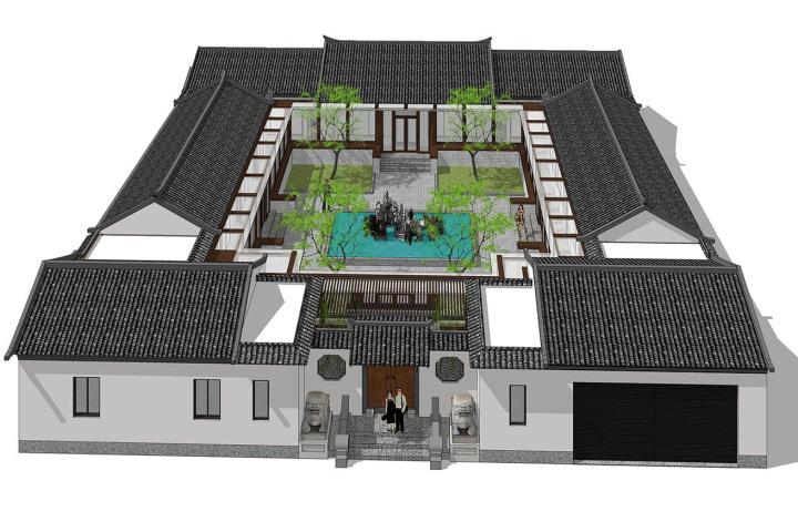 北京房山一层中式四合院