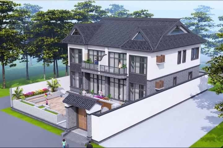 北京顺义王家新中式别墅