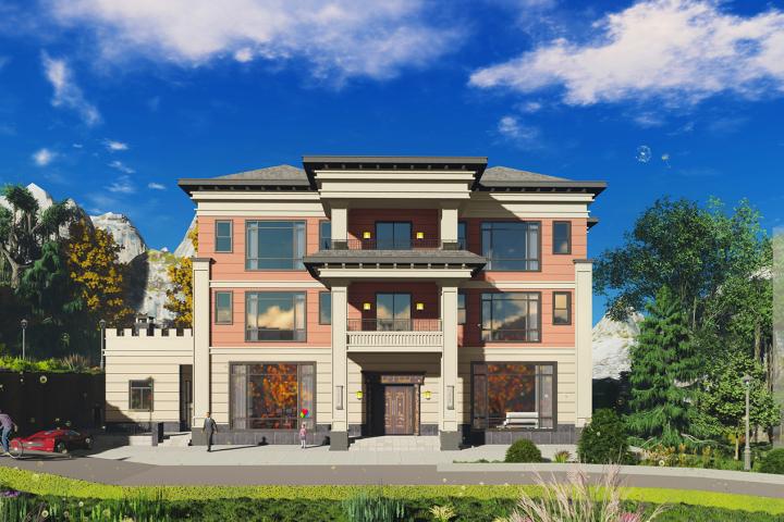 福建泉州刘家中西结合新型别墅