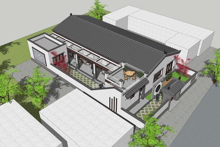 北京房山杨家中式宅院
