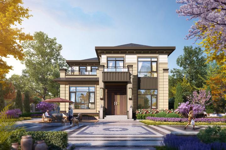 乡住二层新中式别墅