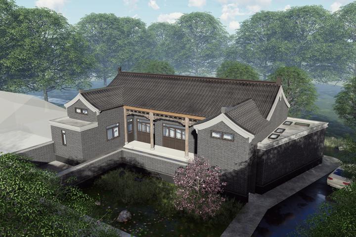 北京昌平杨家中式别墅