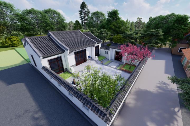 湖北天门彭家中式宅院