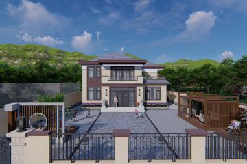 内蒙古赤峰张家新中式别墅