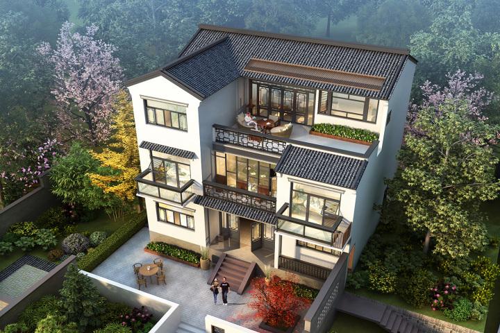 江西乐平张家新中式别墅