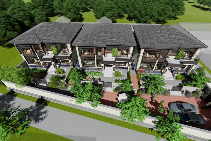 北京顺义马家新中式联排别墅