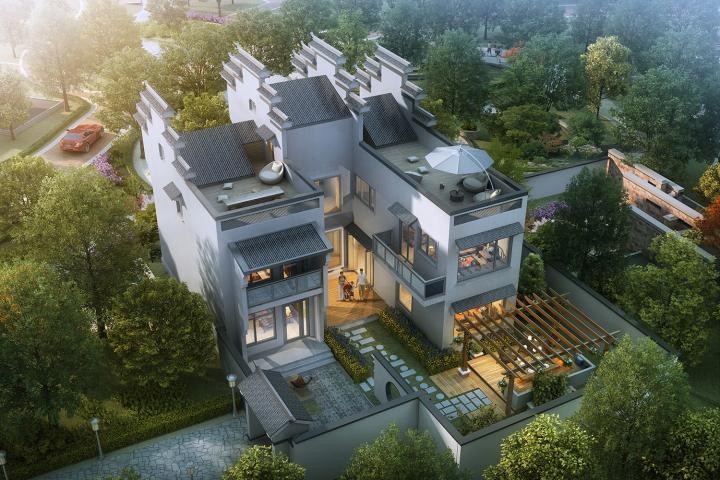 北京徽派别墅设计图纸