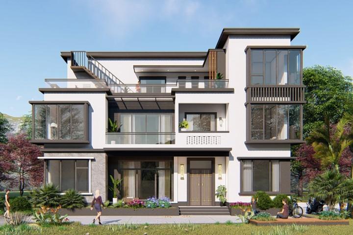 广西柳州范家新中式别墅