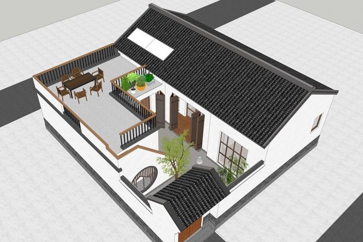 北京平谷张家中式别墅